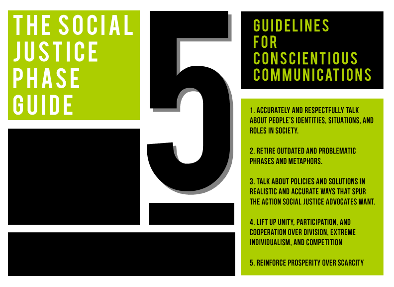 5 tips from the social justice phrase guide for conscientious communications