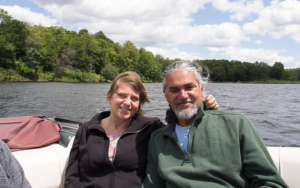 A photo of immigration activists Ravi Ragbir and Amy Gottlieb