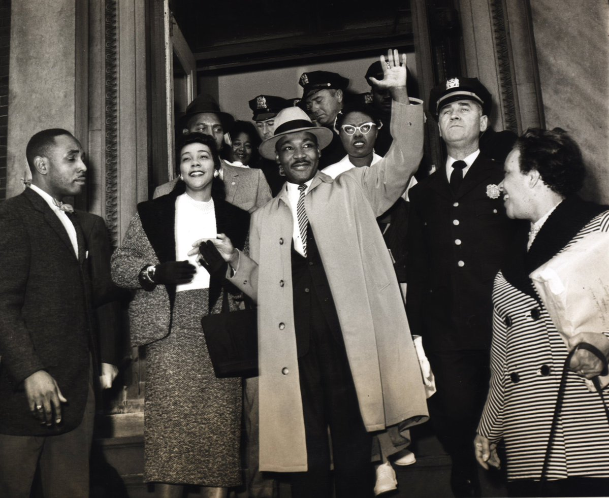 A photo of Dr. Martin Luther King, Jr with his wife Coretta Scott King
