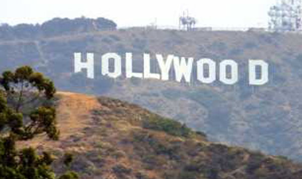 A photo of the Hollywood sign in Hollywood, California