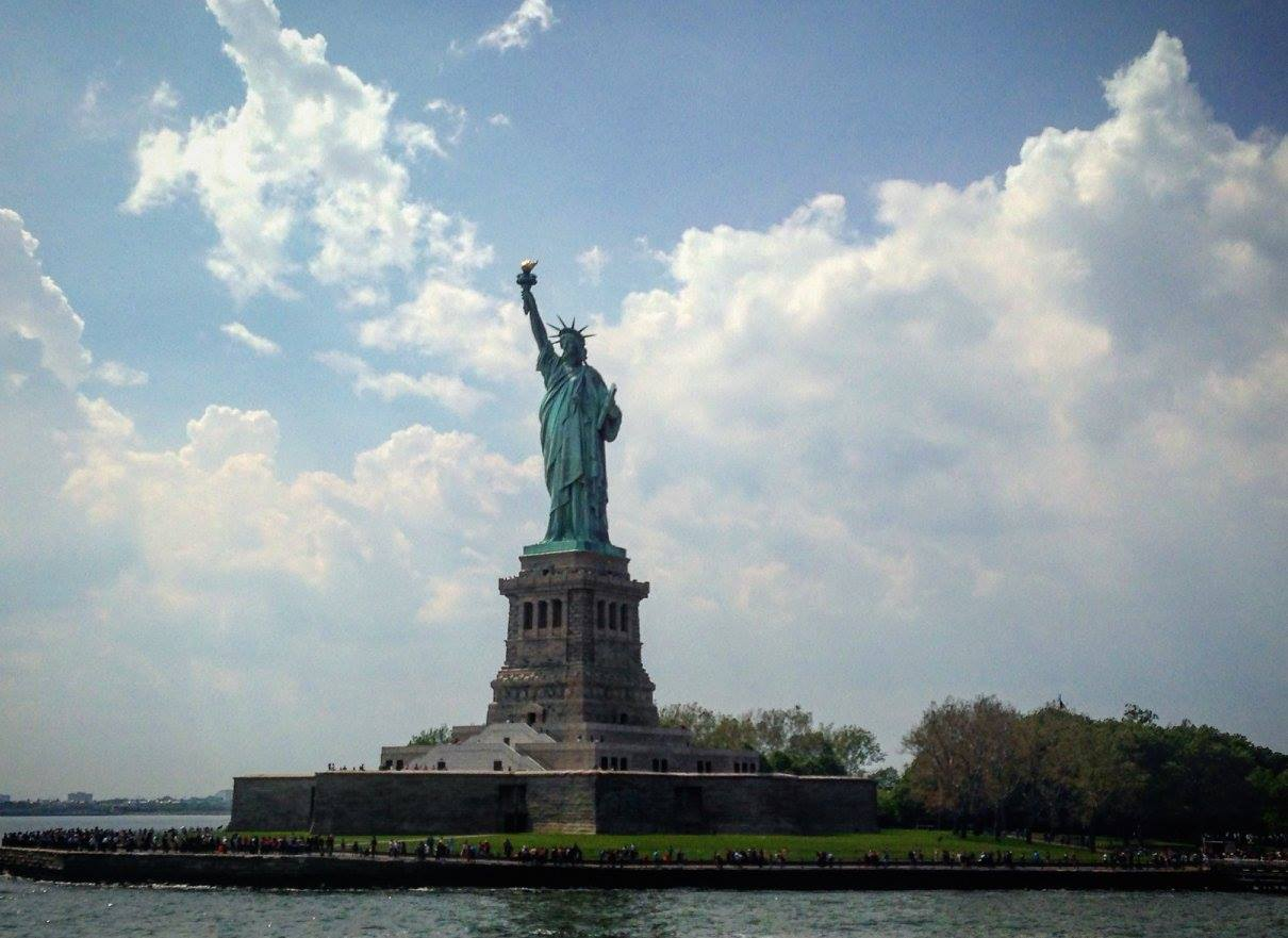 A photo of the Statue of Liberty
