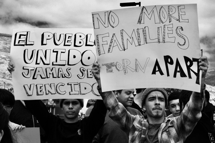 Photo by Pedro Ruiz. In September 2017, at the announcement that Trump was ending DACA, hundreds of San Diegans rallied in Downtown San Diego expressing their outrage